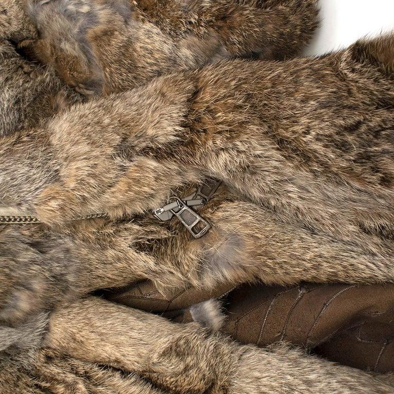 Celine Natural Rabbit Fur Longline Coat 42 FR For Sale 3
