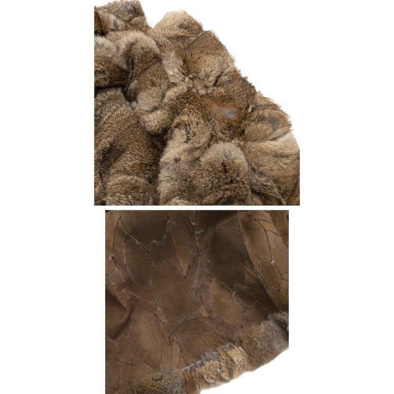Celine Natural Rabbit Fur Longline Coat 42 FR For Sale 4