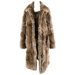 Celine Natural Rabbit Fur Longline Coat 42 FR