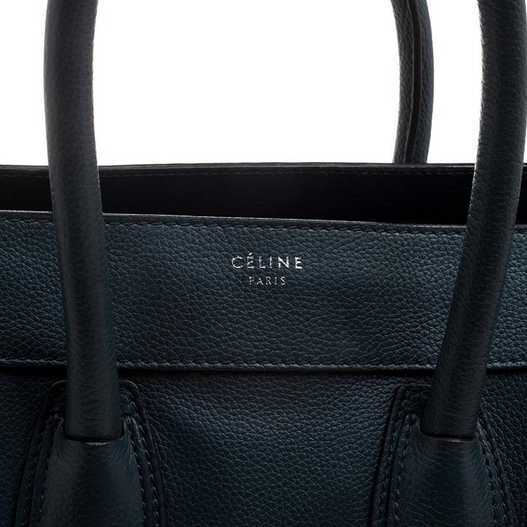 Women's Celine Navy Blue Leather Mini Luggage Tote