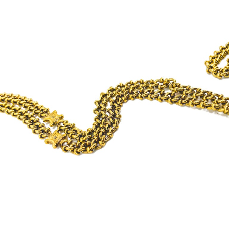 Women's or Men's CELINE Necklace Vintage 1980s For Sale