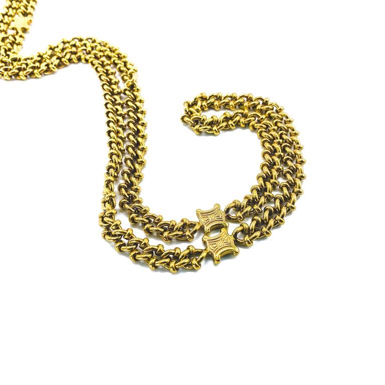 CELINE Necklace Vintage 1980s For Sale 1