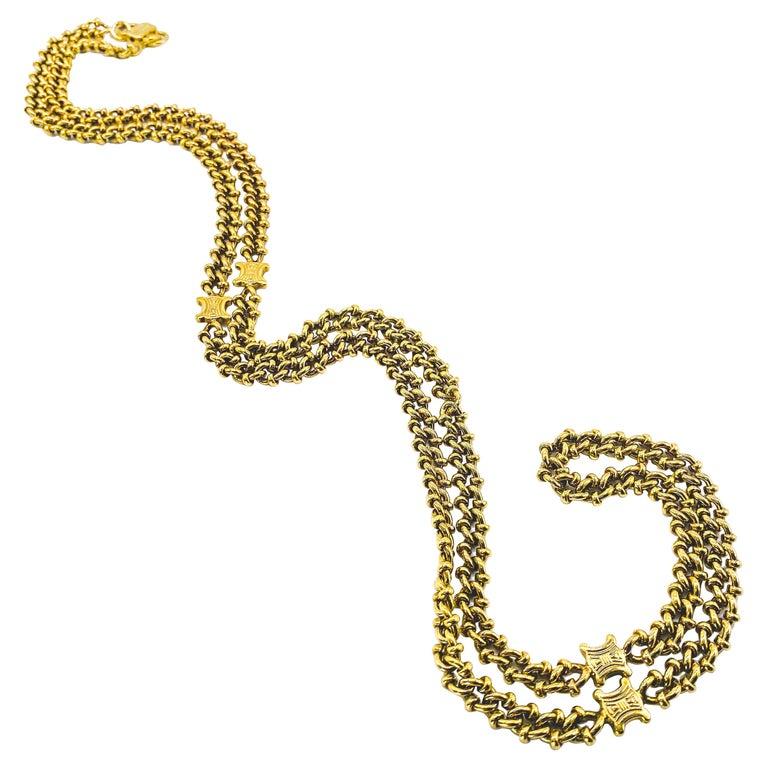 CELINE Necklace Vintage 1980s For Sale