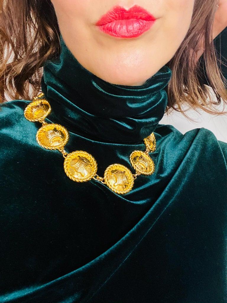 CELINE Necklace Vintage 1990s For Sale 1