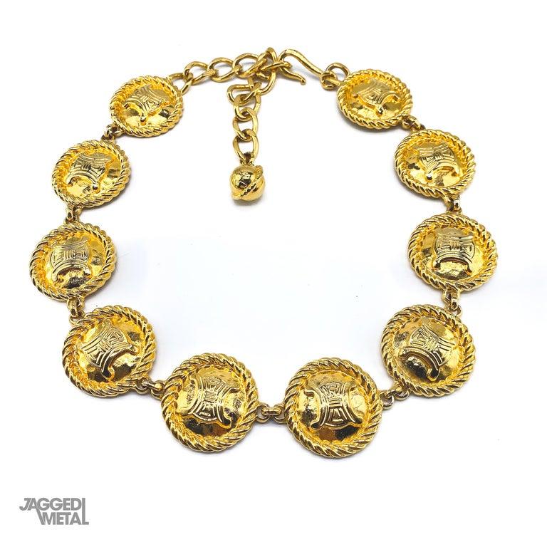 CELINE Necklace Vintage 1990s For Sale 5