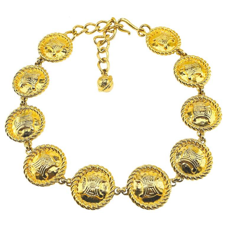 CELINE Necklace Vintage 1990s For Sale