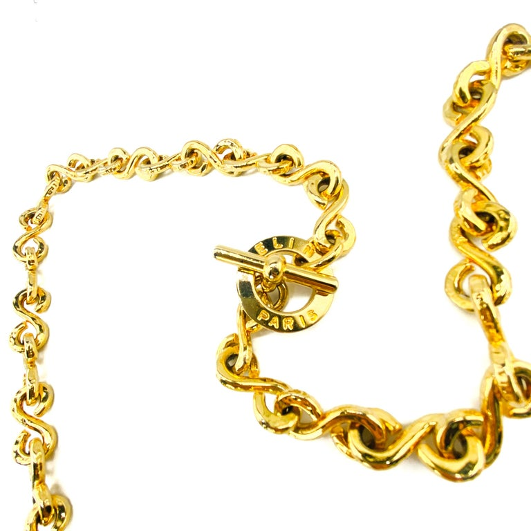 Celine Chunky Vintage 1990s Long Necklace  Incredible statement heavyweight chain from the 90s Celine archive. A rare find in this style  Detail -Made in Italy the 1990s -Crafted from high quality gold plated metal -Chunky ornate style