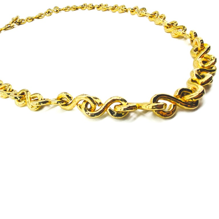 CELINE Necklace Vintage 1990s Long Chain In Excellent Condition For Sale In London, GB