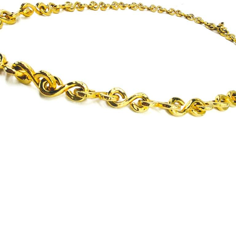 Women's or Men's CELINE Necklace Vintage 1990s Long Chain For Sale