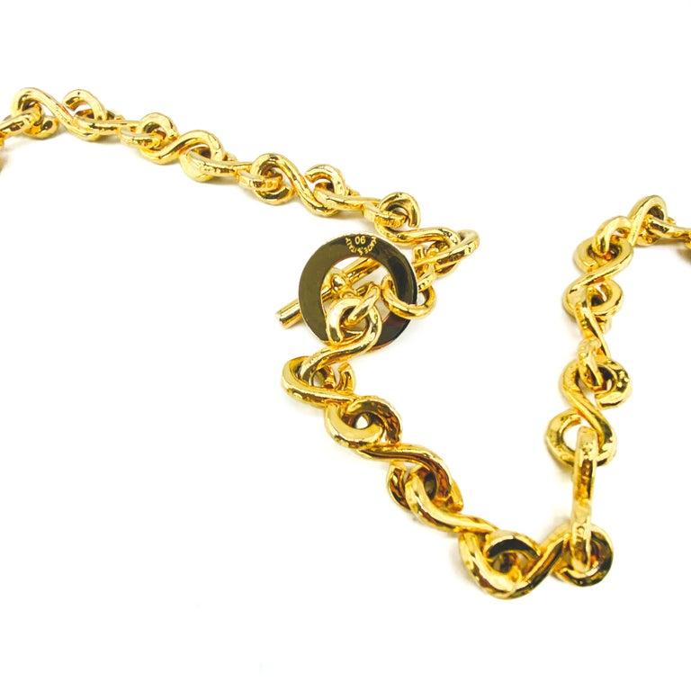 CELINE Necklace Vintage 1990s Long Chain For Sale 1