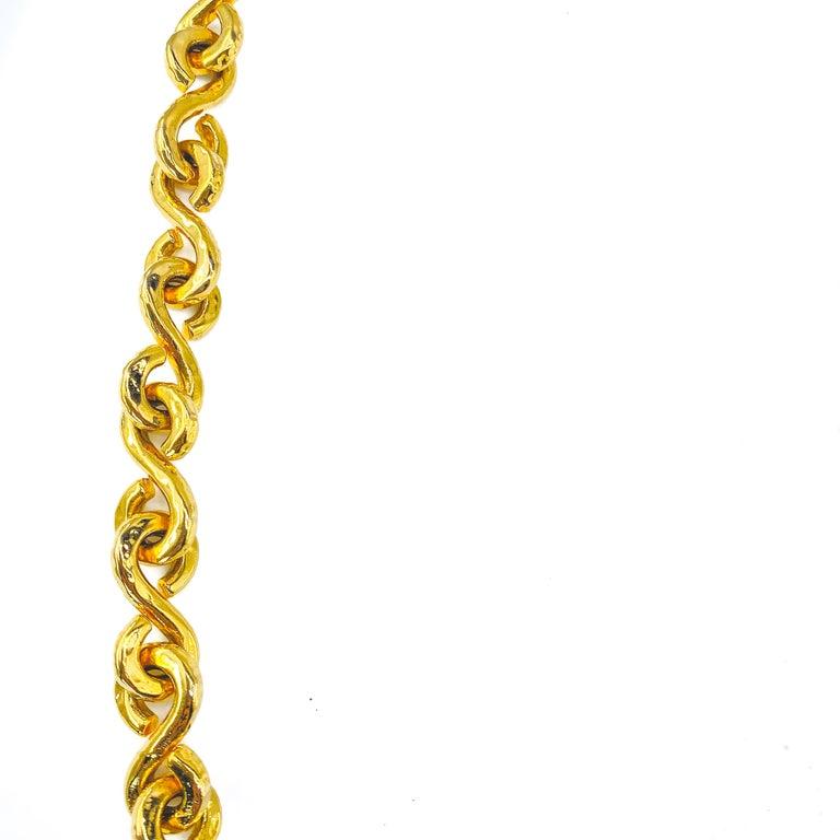 CELINE Necklace Vintage 1990s Long Chain For Sale 2