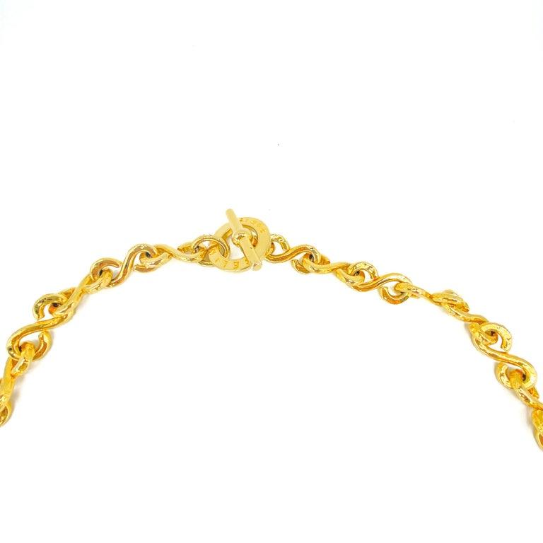 CELINE Necklace Vintage 1990s Long Chain For Sale 3