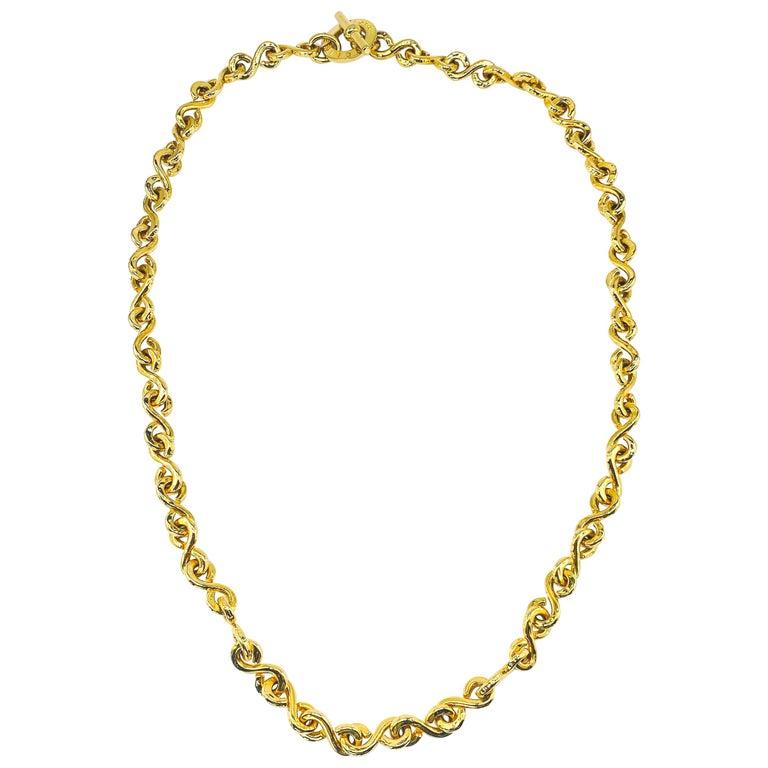 CELINE Necklace Vintage 1990s Long Chain For Sale