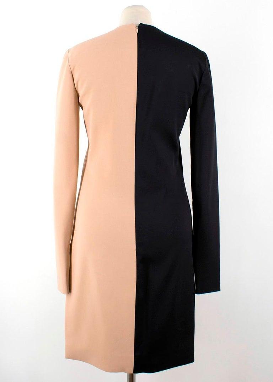 Beige Celine Nude and Black Colour Block Mini Dress US 4