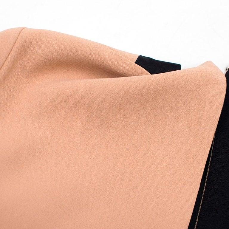 Women's or Men's Celine Nude and Black Colour Block Mini Dress US 4