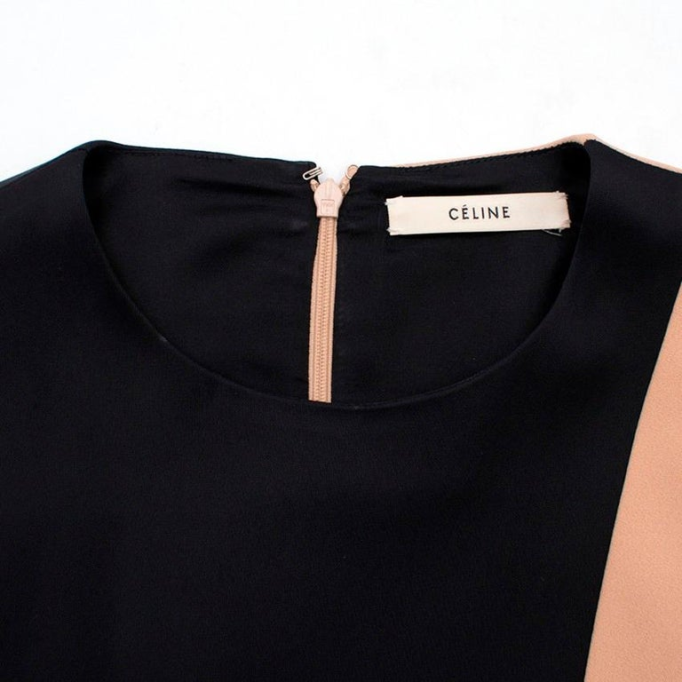 Celine Nude and Black Colour Block Mini Dress US 4 3