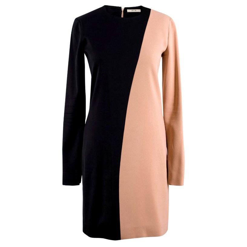 Celine Nude and Black Colour Block Mini Dress US 4
