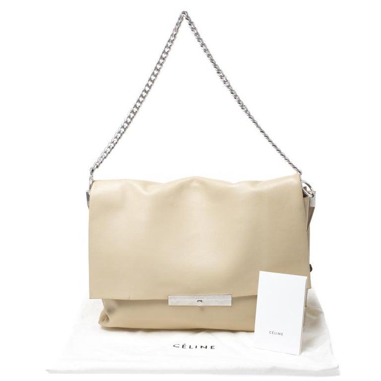 Celine Nude Leather Blade Chain Shoulder Bag For Sale 6