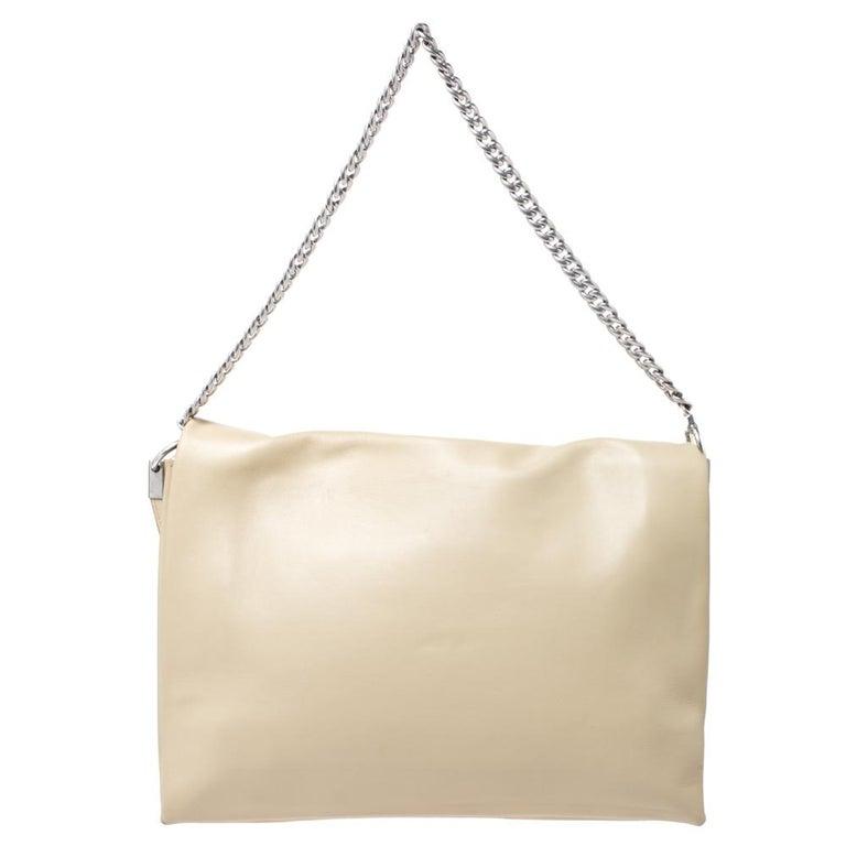 Celine Nude Leather Blade Chain Shoulder Bag For Sale 1