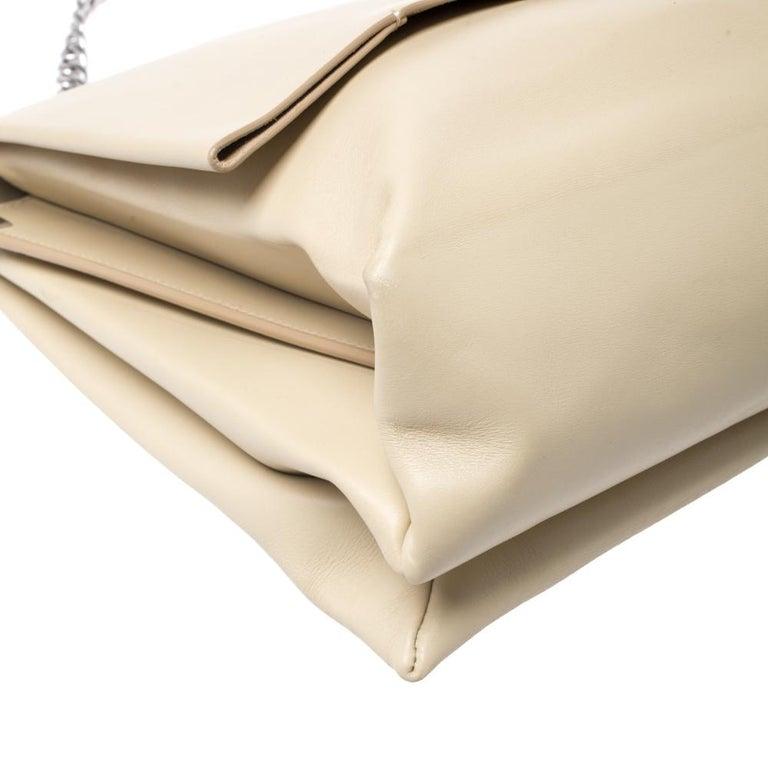 Celine Nude Leather Blade Chain Shoulder Bag For Sale 4