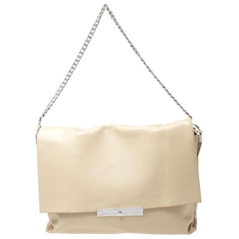 Celine Nude Leather Blade Chain Shoulder Bag For Sale