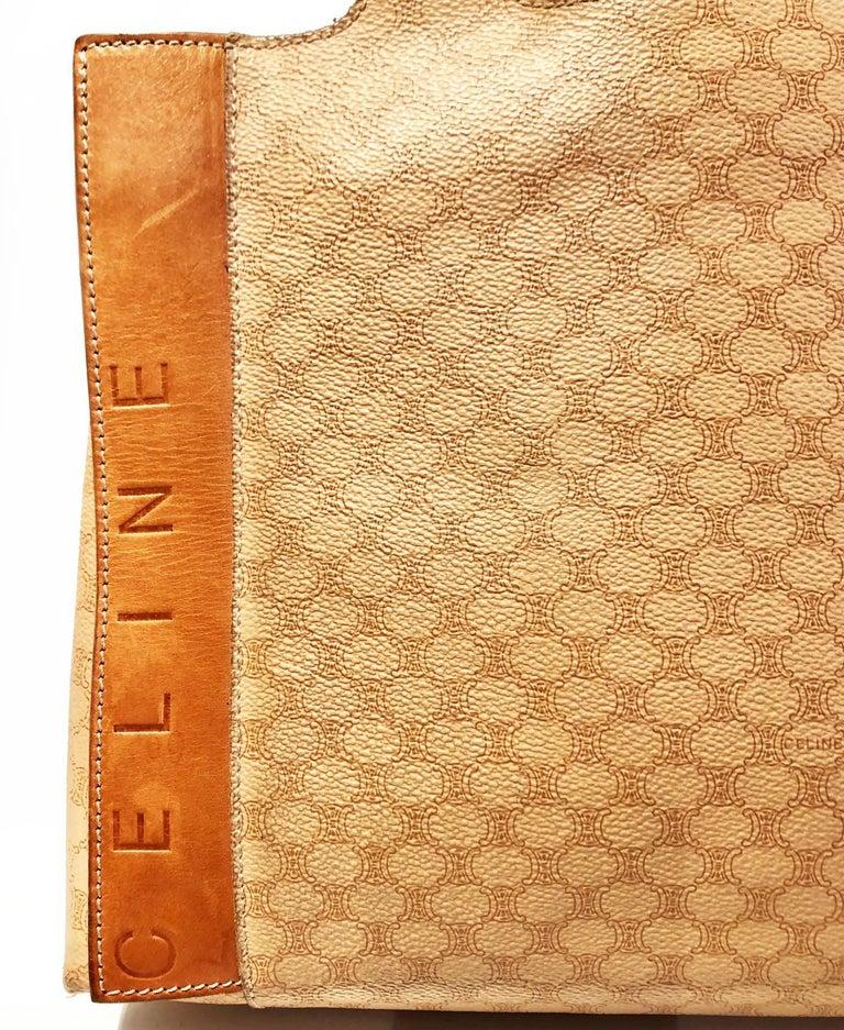 Celine Paris Macadam tote logo bag  In Good Condition For Sale In London, GB