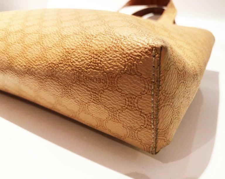 Women's Celine Paris Macadam tote logo bag  For Sale