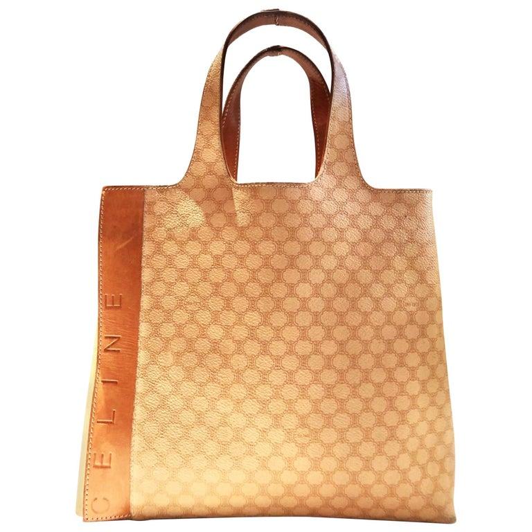 Celine Paris Macadam tote logo bag  For Sale