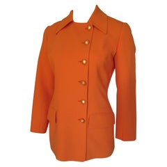 Celine Paris Orange Wool blazer small