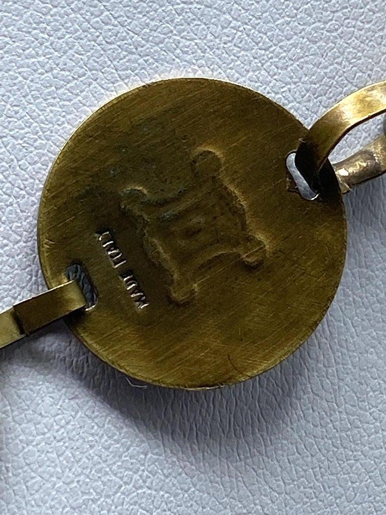 Celine, Paris Patinated Bronze Disk Bib Necklace For Sale 11