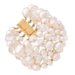 Céline Pearl Embellished Bracelet