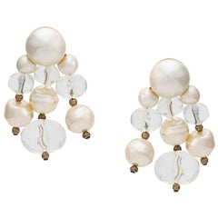 Céline Pearl Embellished Drop Earrings