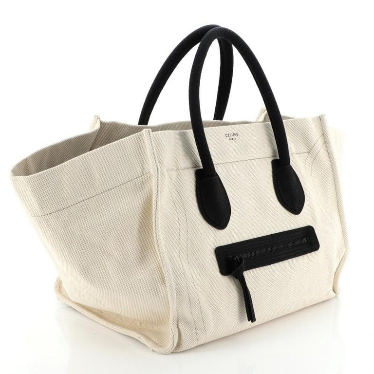 Celine Phantom Bag Canvas Large In Good Condition For Sale In New York, NY