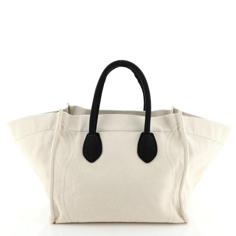Women's or Men's Celine Phantom Bag Canvas Large For Sale