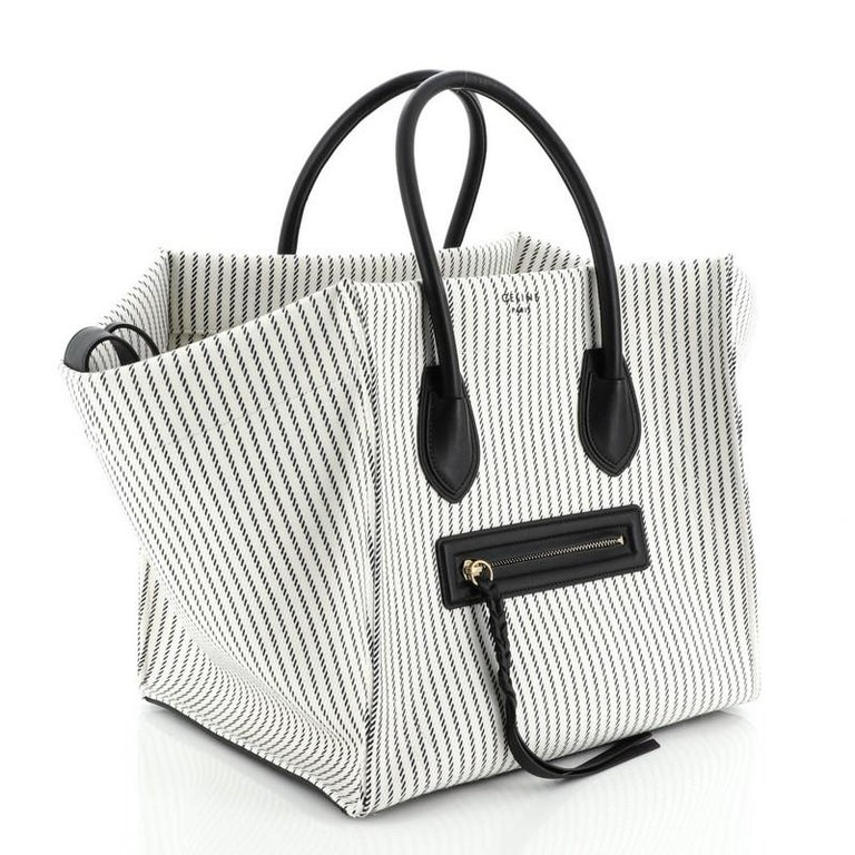 Gray Celine Phantom Bag Canvas Medium