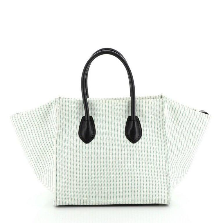 Celine Phantom Bag Canvas Medium In Good Condition In New York, NY