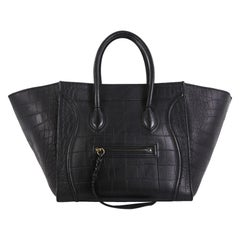 Celine Phantom Bag Crocodile Embossed Leather Medium