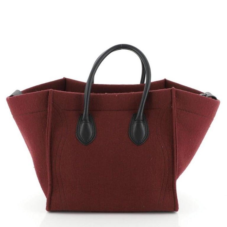 Celine Phantom Bag Felt Medium In Good Condition For Sale In New York, NY