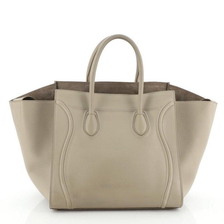Brown Celine Phantom Bag Grainy Leather Medium