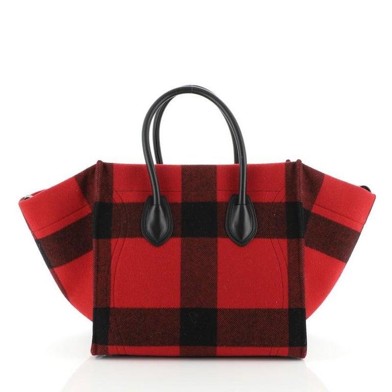 Brown Celine Phantom Bag Printed Felt Medium For Sale