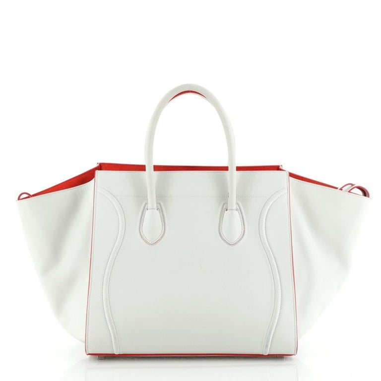 Celine Phantom Bag Smooth Leather Medium In Good Condition For Sale In New York, NY