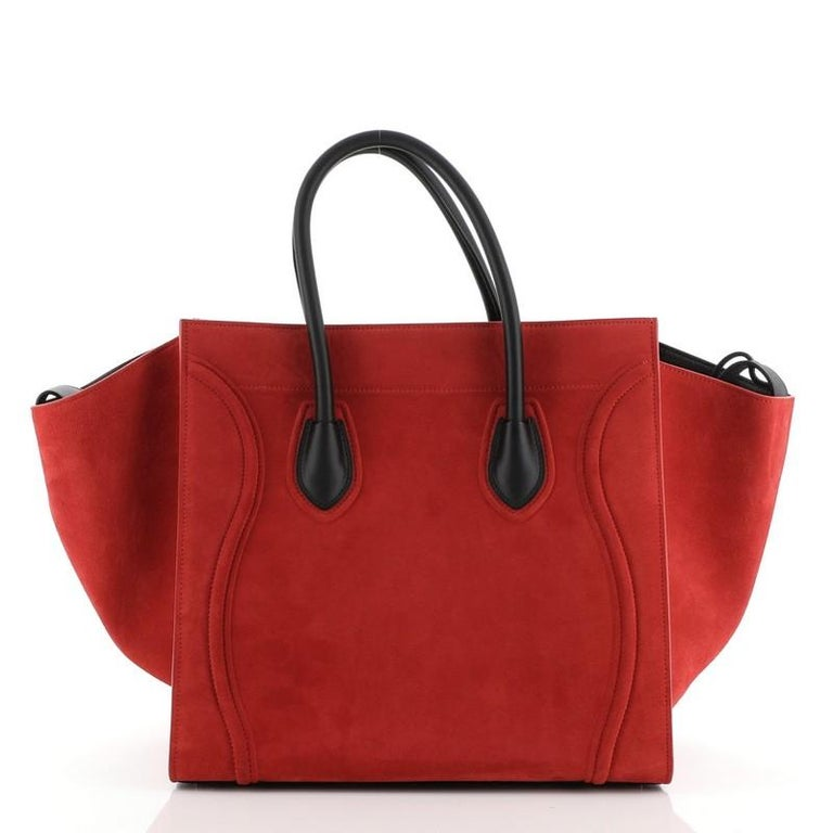 Celine Phantom Bag Suede Medium In Good Condition For Sale In New York, NY