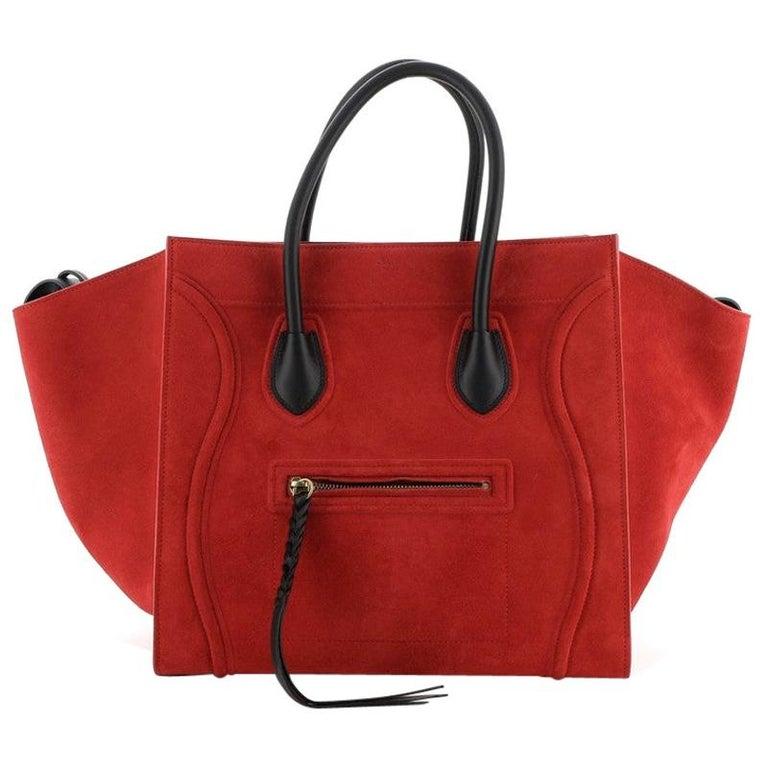 Celine Phantom Bag Suede Medium For Sale