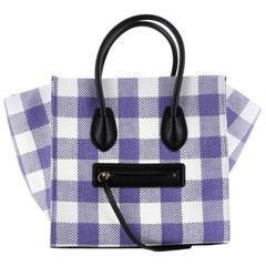 Celine Phantom Bag Woven Gingham Medium
