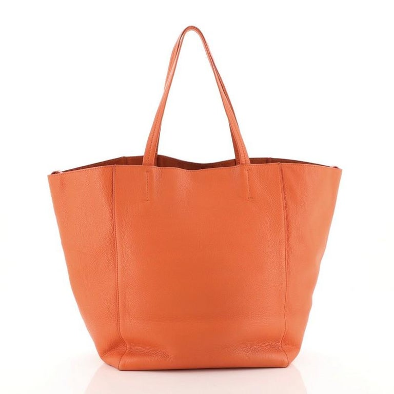 Orange Celine Phantom Cabas Tote Leather Large For Sale