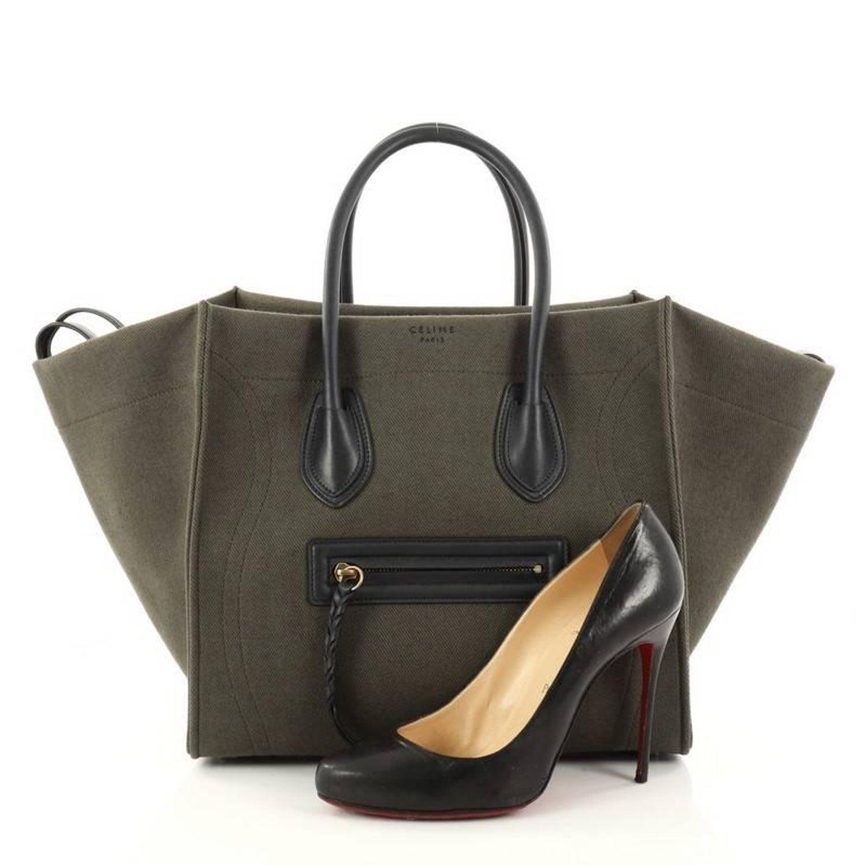 eb2f9bfbd0d6 Celine Phantom Handbag Canvas Medium at 1stdibs