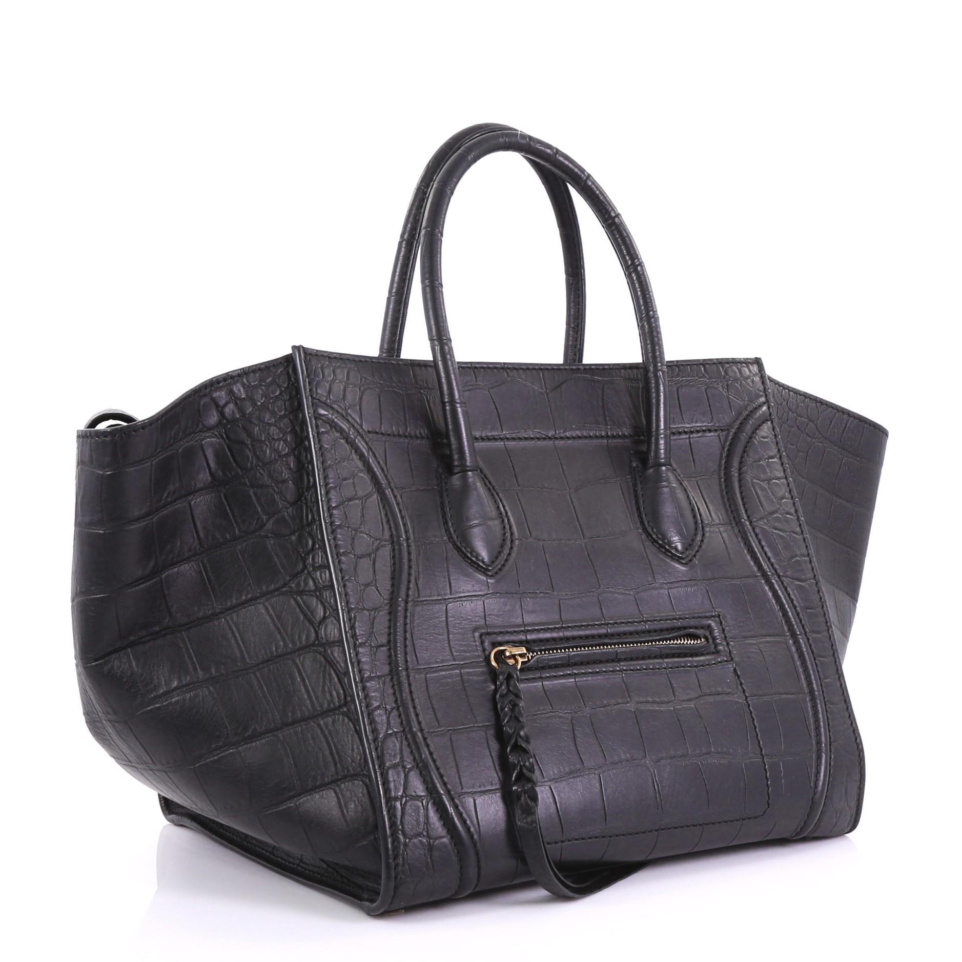 04d30ca98c Celine Phantom Handbag Crocodile Embossed Leather Medium at 1stdibs
