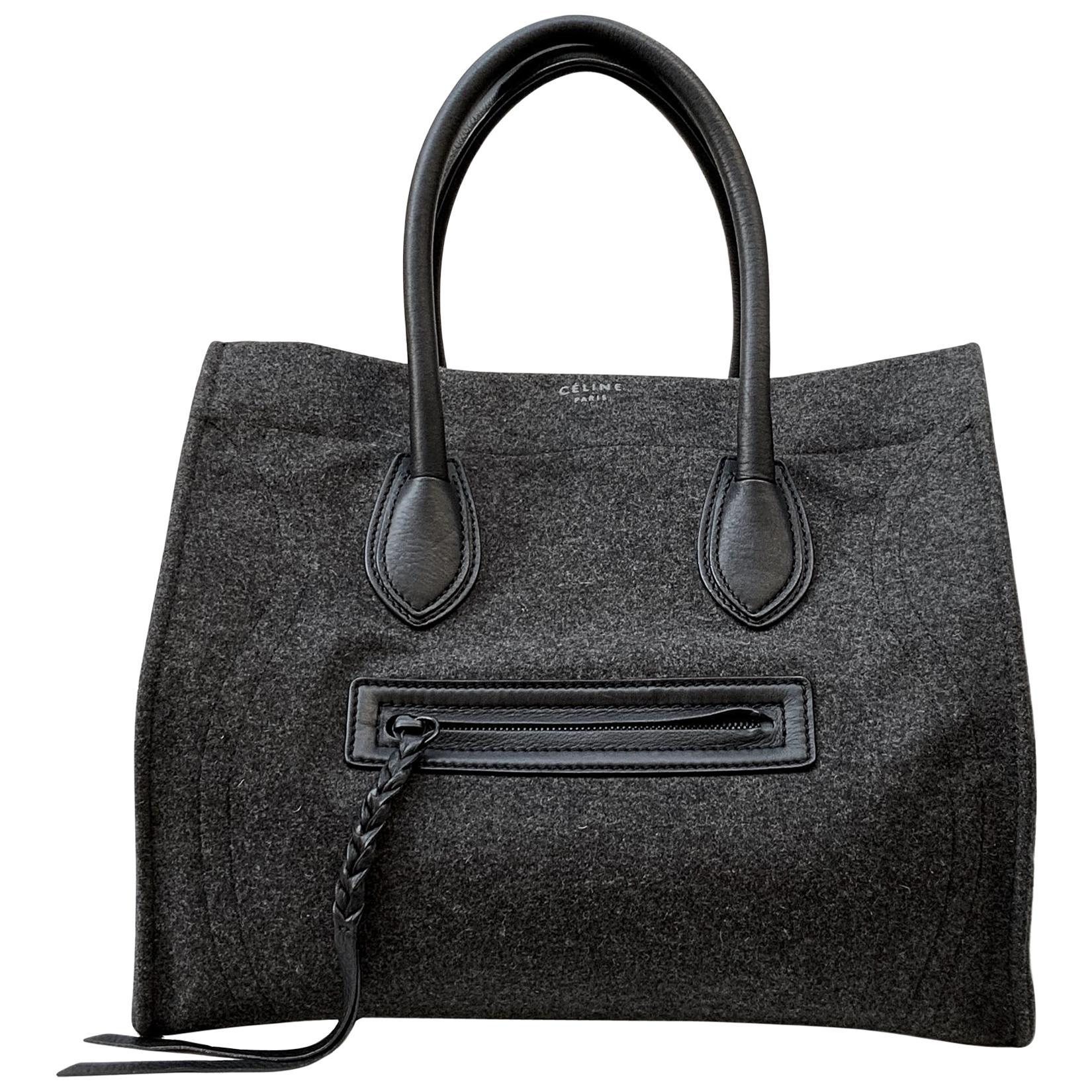 Celine Phantom Luggage GM Felt Wool Bag