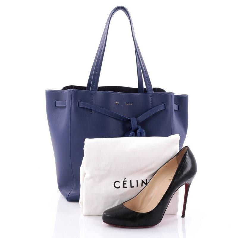 This authentic celine phantom tie cabas tassel tote leather small is a  fashionista jpg 768x768 Celine d03b88f200