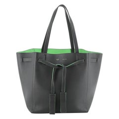 Celine Phantom Tie Cabas Tassel Tote Leather Small